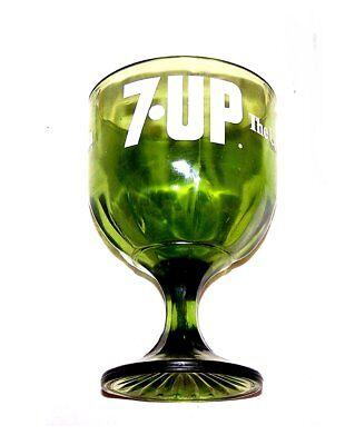 Vintage 70s 7up Seven Up Soda Pop Green Art Glass Ex Can Sign Flat Coke Beer Ofr