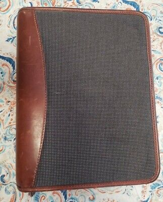 Franklin Covey Riverwood Brown Distressed Leather Classic Binder Planner