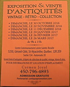 EXPOSITION & VENTE D'ANTIQUITES VINTAGE, RETRO, COLLECTIONS  ETC