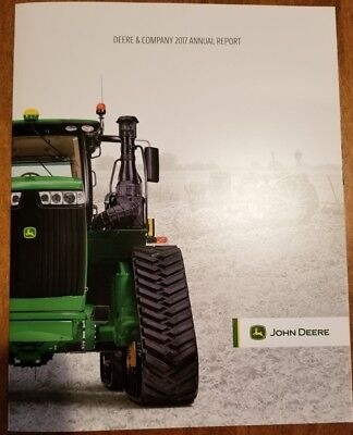 John Deere and Company Annual Report 2017 NEW and unread JD tractors