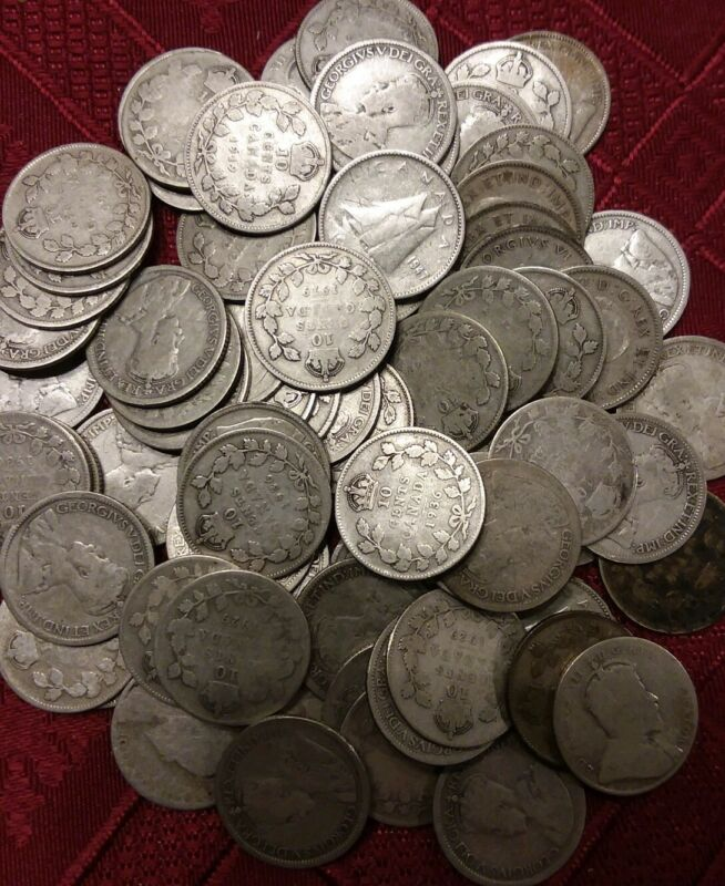 Canadian Dime 80-92.5% Silver Free Shipping