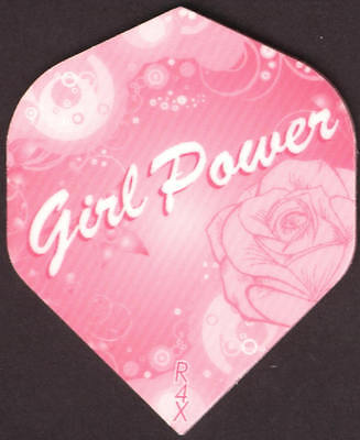 Girl Power  With Roses Dart Flights  3 Per Set