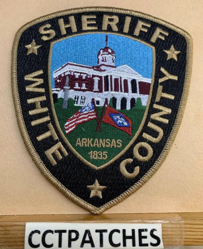 WHITE COUNTY, ARKANSAS SHERIFF (POLICE) SHOULDER PATCH AR
