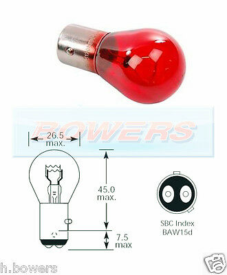 Single Lucas LLB875 28 V Volt 7 W SBC BA15D Double Contact Auto Ampoules