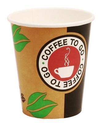 1000 Hartpapier Coffee to go Becher 0,2l Kaffeebecher Pappbecher Coffeebecher