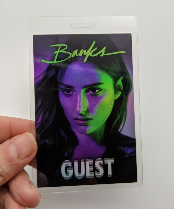 BANKS Backstage Pass Concert VIP Laminated