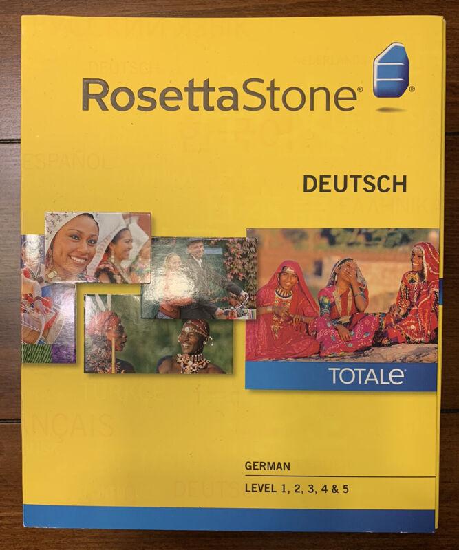 Rosetta Stone TOTALe German/Deutsch Version 4 Levels 1-5 PC [New/Sealed]