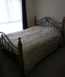 (Delivery available)double bed with pillow top mattress