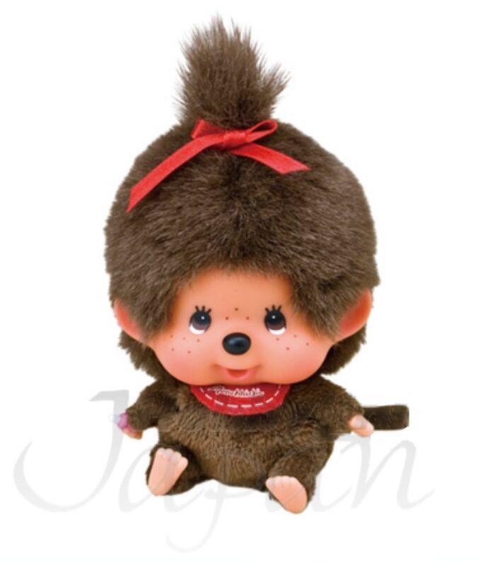 NWT Japan Big Face Monkey MCC Monchhichi Girl Stuffed Plush Doll by Sekiguchi