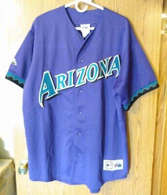Vintage Arizona Diamondbacks 1998-2006 Majestic Purple Jersey Men's XL Throwback