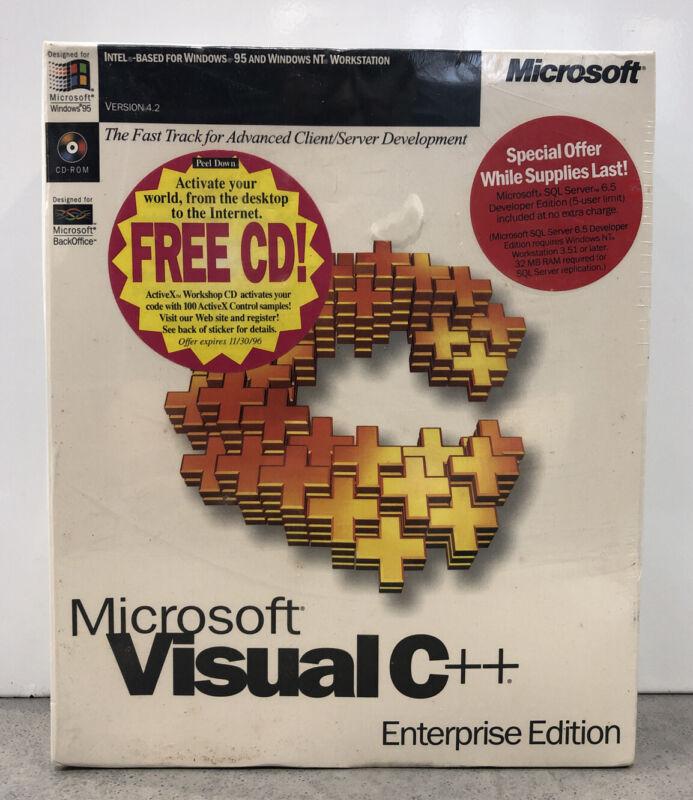 Microsoft Visual C ++ Enterprise Edition- Brand New SEALED BOX!