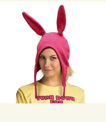 Bobs Burgers Louise belcher Beanie Adult Hat Pink Bunny Ears Gift For Fans - Louise Belcher Hat