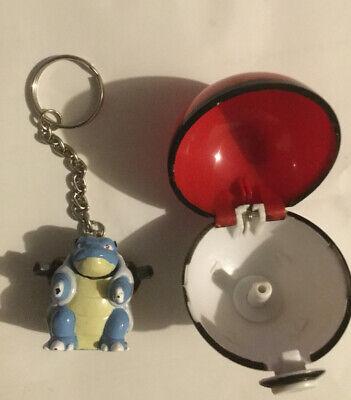 Blastoise Pokemon Pokeball Plastic Keychain 1999