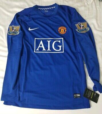 bedf755e9e0 Cristiano Ronaldo Manchester United 2007-2008 Blue 3rd Jersey - Medium