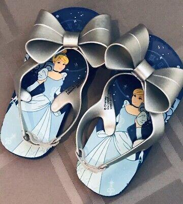 Disney Cinderella Bows Flip Flops Sandals Toddler Shoes Girls 7/8](Cinderella Shoes Toddler)