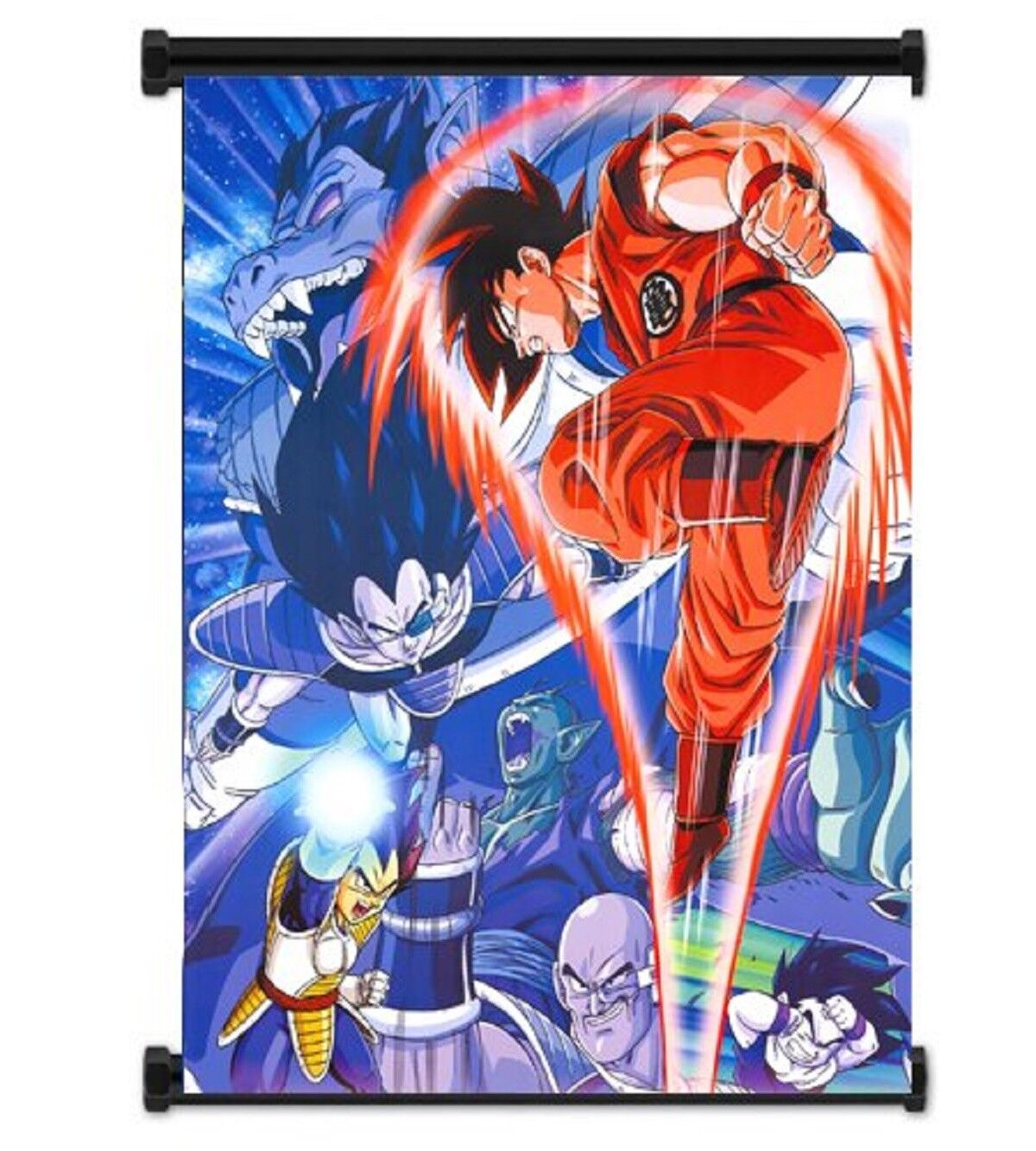 Anime DragonBall Z-Fabric Goku VS Vegeta Wall Scroll