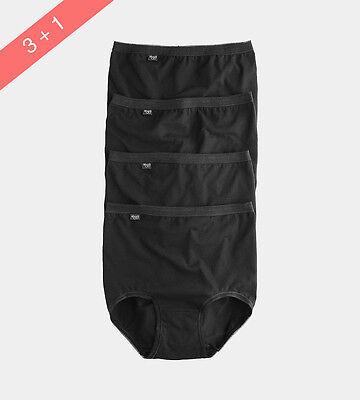 Sloggi Basic Maxi Briefs (3 + 1 Free) 4 Pack In Black