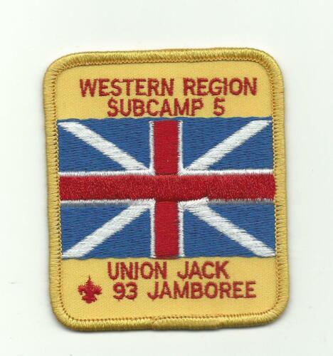SCOUT BSA 1993 NATIONAL JAMBOREE WESTERN REGION SUBCAMP 5 UNION JACK PATCH BADGE