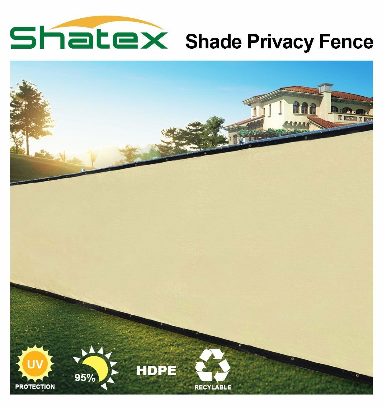 Wheat Fence Windscreen Privacy Screen Shade Cover Fabric Mesh Garden Tarp
