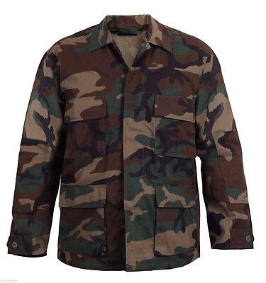 woodland camo bdu shirt military style camouflage coat rothco 7940 - Woodland Camo Bdu Military Shirt