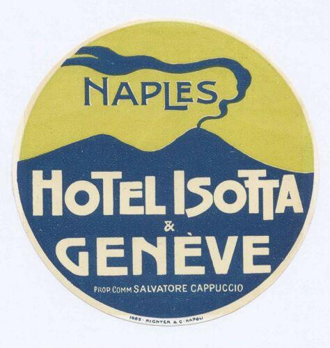 Hotel Isotta & Geneve Naples Prop Comm Salvatore Cappuccio Vesuvius Luggage Lbl