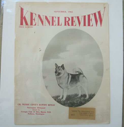 Vintage Cover of Kennel Review w/Ch. Windy Cove