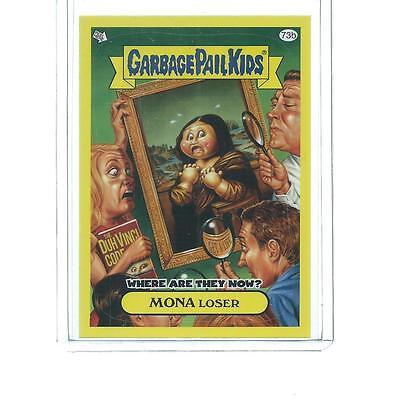 2011 TOPPS GARBAGE PAIL KIDS MONA LOSER YELLOW PARALLEL #73B