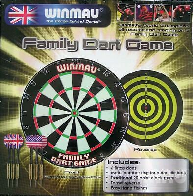 Winmau Family Dart Game with 2 sets Brass Darts