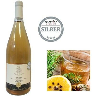 Weißer Glühwein aus Weißwein Winzerglühwein Weinhaus Kuntz 12 Fl SILBER ***