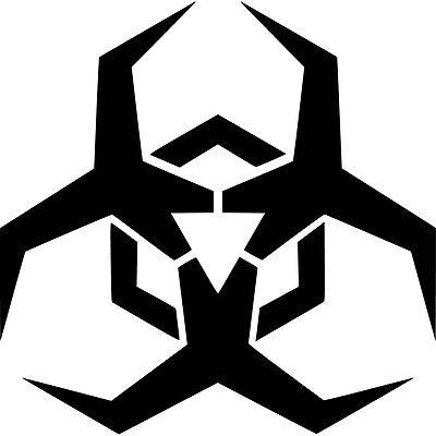 Malware Biohazard Logo Vinyl Sticker Decal Jdm   Choose Size   Color