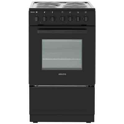 Electra SE50B Free Standing A Electric Cooker with Solid Plate Hob 50cm Black