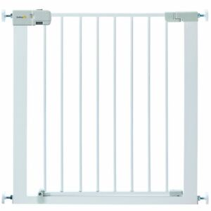 No Drilling Stair Metal Gate Safety Baby Toddler Simply-Close Door Pressure Fit