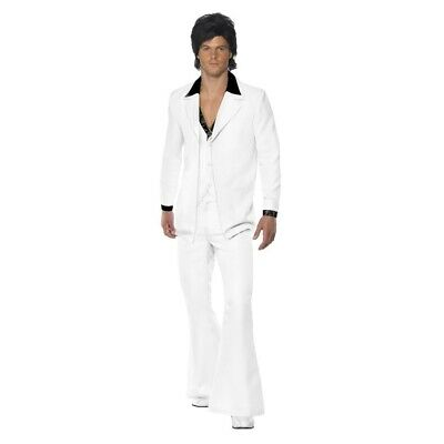 Saturday Night Fever White Leisure Suit Adult Costume Mens Disco Tony Manero 70s - Saturday Night Fever Costume