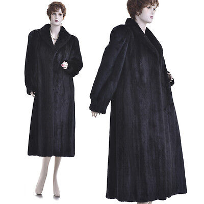 LKNW! Super Quality New York Fashion Black Beauty Pure Black Mink Fur F/L Coat