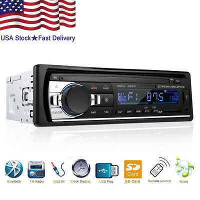 Bluetooth Car Stereo Audio In Dash Fm Aux Input Receiver Sd Usb Mp3 Radio Player