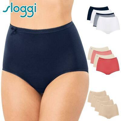 Sloggi 4 Pack Basic Maxi Brief Multiple Colours Womens Cotton