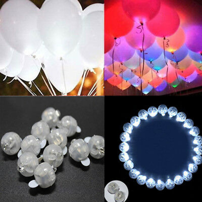 100PCS LED Ball Lamps Balloon Light for Paper Lantern Wedding Party Decoration - Led Paper