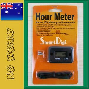 Inductive-Waterproof-Hour-Meter-for-Marine-ATV-Motorcycle-Dirt-Ski-BLACK