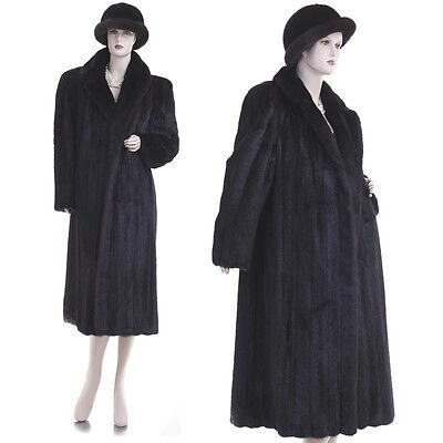 Mint! Elegant I. Magnin Female Mahogany Mink Fur A-Line Coat w/FREE $450 Hat