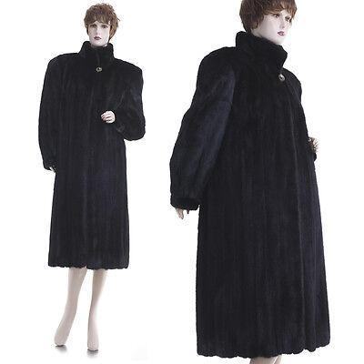 New! Rare Petite! Forever Fashionable Glamorous Black Beauty Real Mink Fur Coat