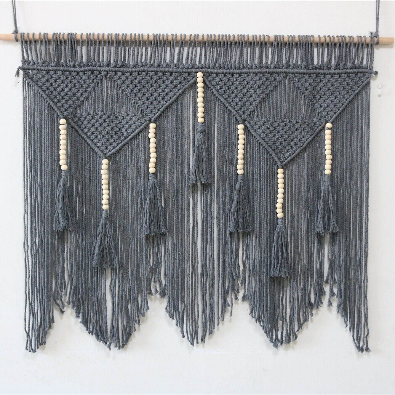 """39""""x 47"""" Giant Macrame Wall Hanging Woven Tapestry Wall Home"""