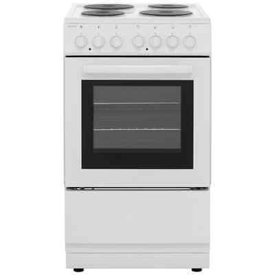 Electra SE50W Free Standing A Electric Cooker with Solid Plate Hob 50cm White