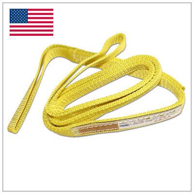 1 X 3 Ft Nylon Web Lifting Sling Tow Strap 2 Ply Ee2-901 Eye Eye Usa Domestic