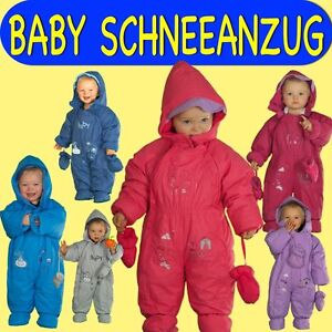 baby schneeanzug schneeoverall winteranzug kinder overall kapuze wagenanzug ebay. Black Bedroom Furniture Sets. Home Design Ideas