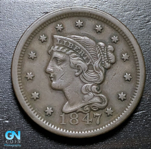 1847 Braided Hair Large Cent --  MAKE US AN OFFER!  #B3315