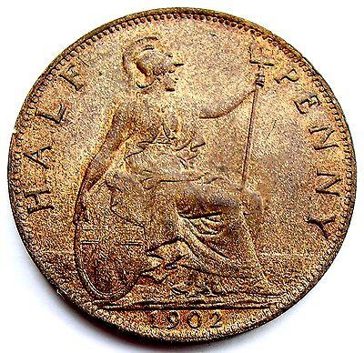 Edward VII 1902 Halfpenny Unc
