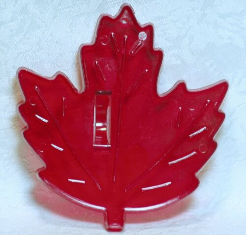 Vintage HRM Red Plastic Cookie Cutter - Maple Leaf Fall Autumn Nature Tree