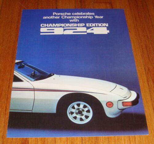 Original 1977 Porsche 924 Martini Racing Championship Edition Sales Brochure