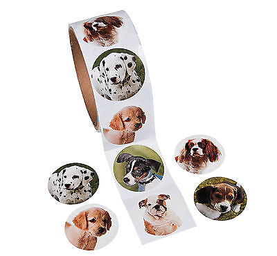 200 Puppy Dog Stickers Realistic doggy-themed Birthday Party Favors Rewards - Dog Themed Party