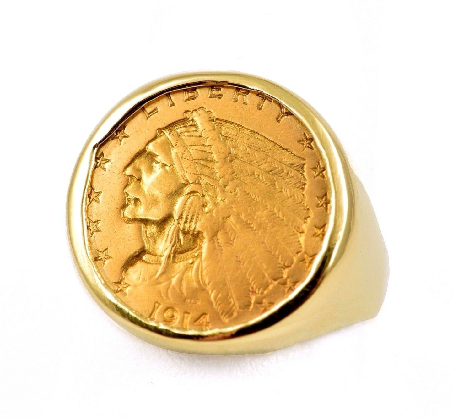 1914 D Us 2 5 Indian Head Quarter Eagle 900 Gold Coin In